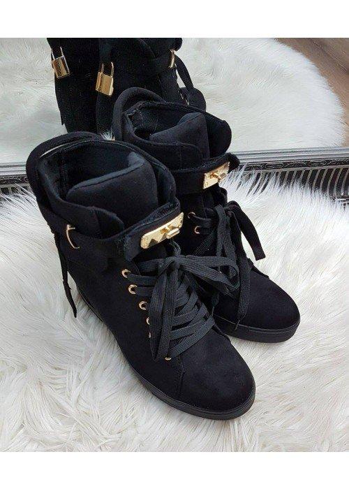 Čierne platformové tenisky