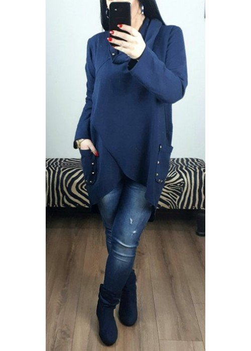Modrá asymetrická mikina Gigi