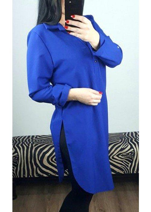 Predĺžená kráľovská modrá košeľa