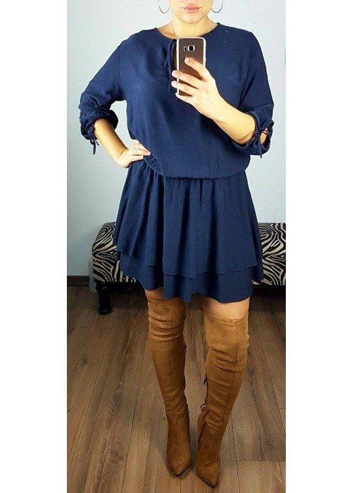 Tunikové šaty Alla tmavo modré