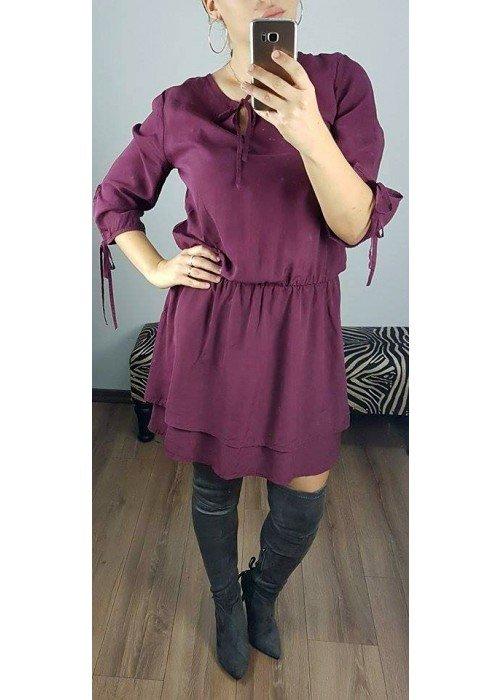 Tunikové šaty Alla bordové