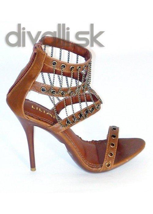 Retiazkové sandále Ashley hnedé