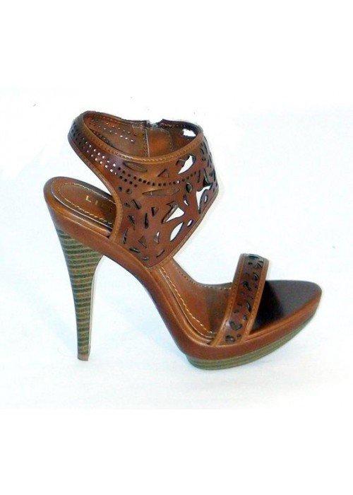 Vyrezávané sandále Alberta hnedé