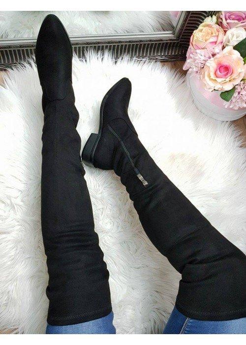 Čierne čižmy nad koleno Marion