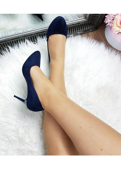 Tmavo modré lodičky Monica