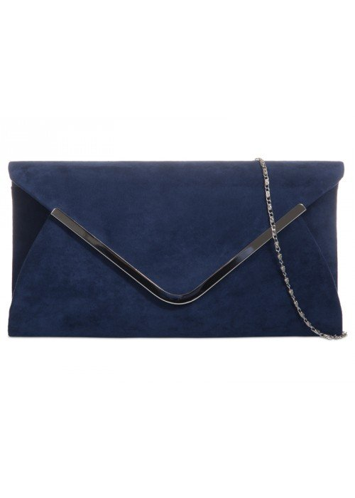 Semišová kabelka Mona tmavo modrá