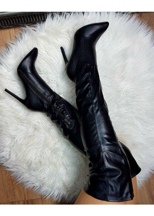 Čižmy nad koleno Kylie čierne