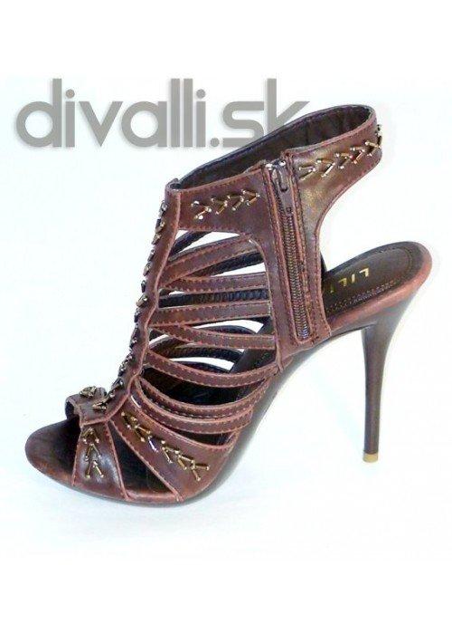 Remienkové sandále Ashley hnedé