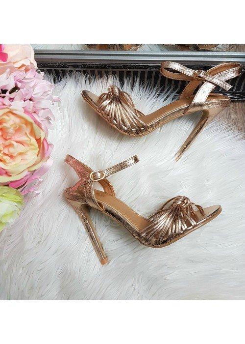 Metalické sandále Jovanna rose gold