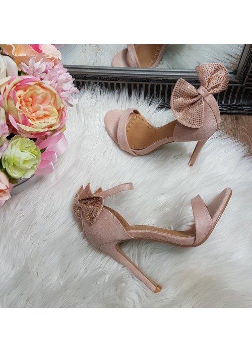 Sandálky s mašličkou Millie púdrové