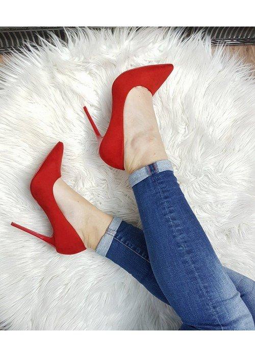 červené lodičky Jully