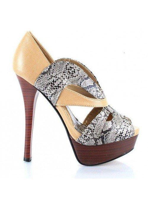 Extravagantné sandále OJAI béžové