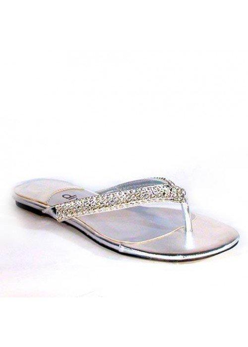 Nízke sandále divalli 10010-106 strieborné