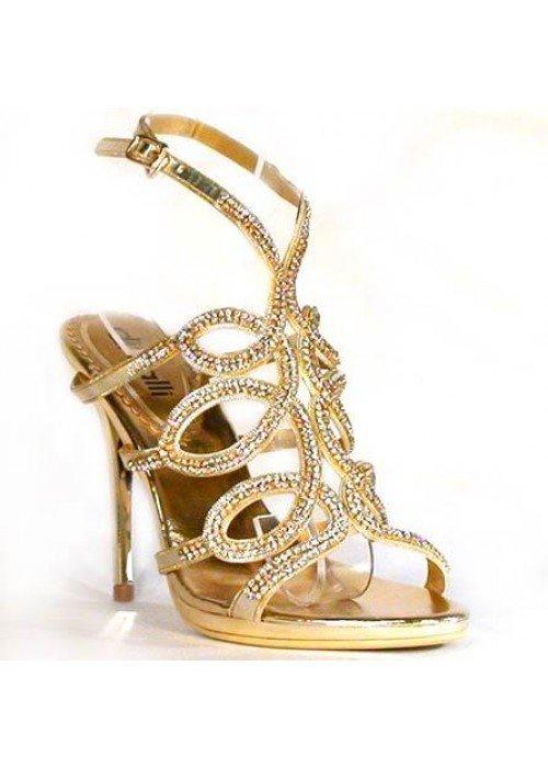 Spoločenské sandále divalli 063-C zlaté