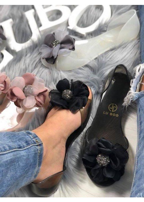 Gumené balerínky Blossom čierne