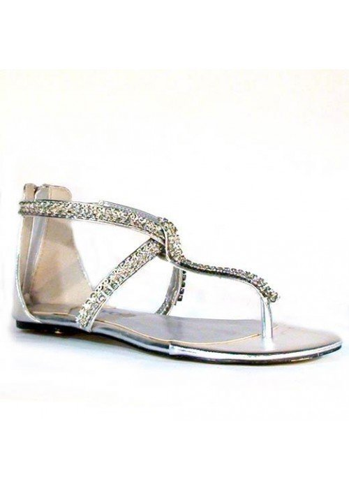 Nízke sandále divalli 10010101 strieborné