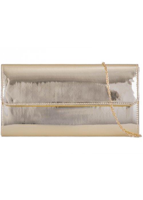 Zlatá zrkadlová kabelka Chloe