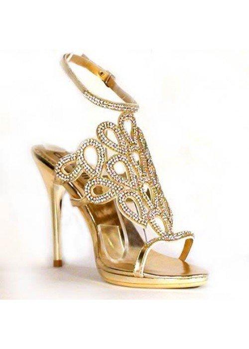 Spoločenské sandále divalli 97012 zlaté