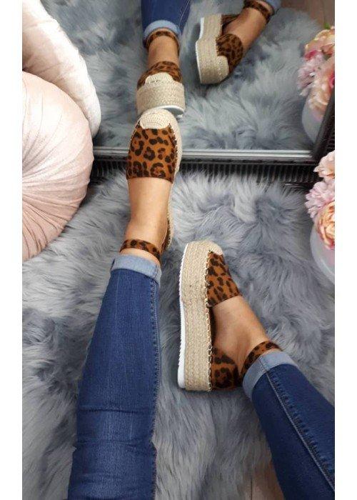 Espadrilkové sandále Joyce leopard