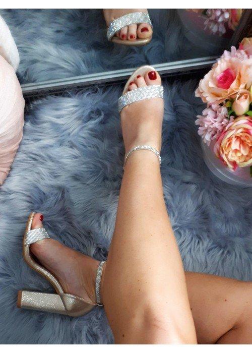 Zlaté sandále Jessie