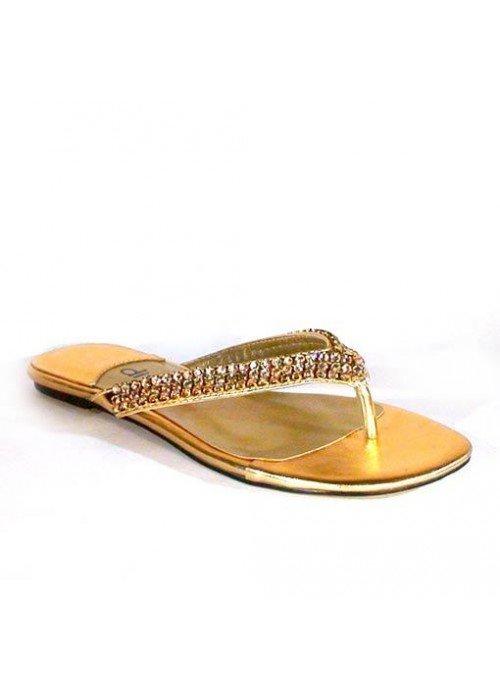 Nízke sandále divalli 10010-106 zlaté