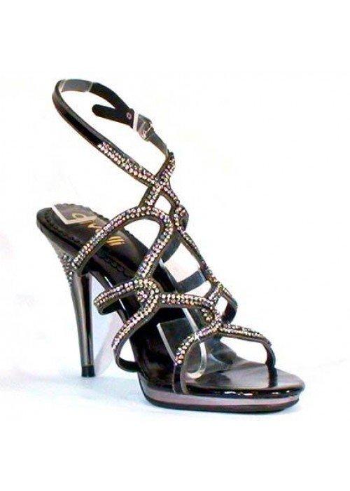 Spoločenské sandále divalli 2455 čierne