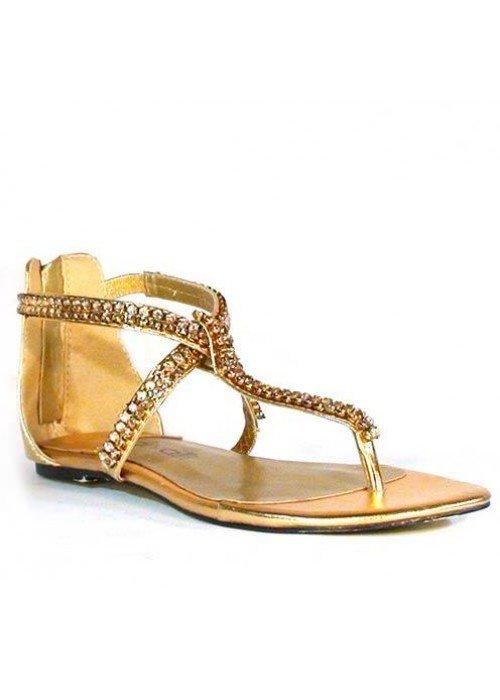Nízke sandále divalli 10010-101 zlaté