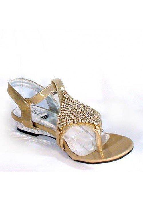Nízke sandále divalli A216 zlaté