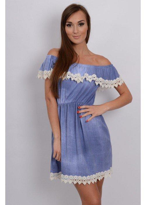 Šaty Jeanne modré