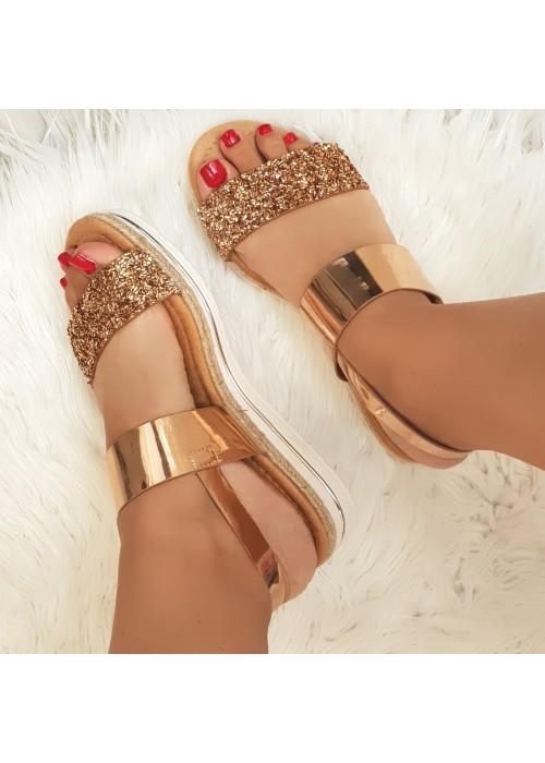 Sandále Umma rose gold
