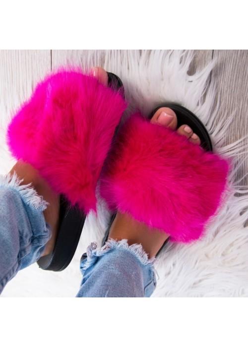 Cyklaménové chlpaté papuče Furra