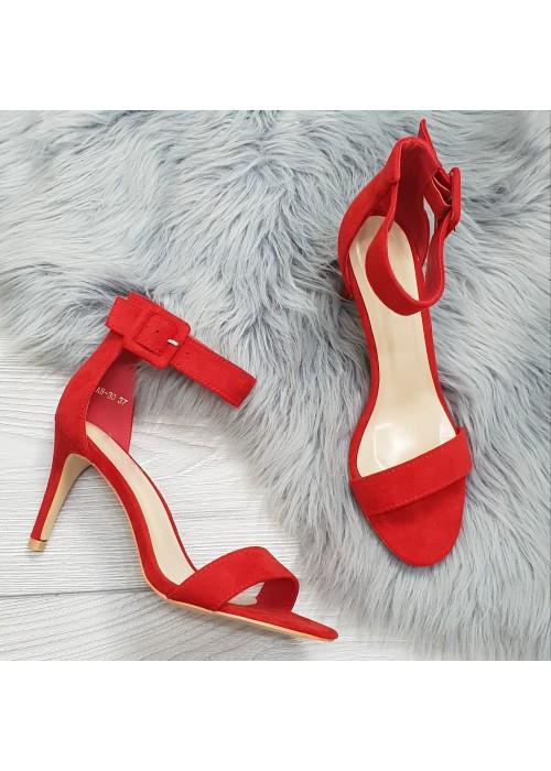Červené sandále Timea