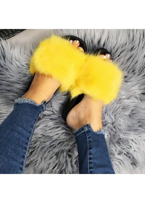 Zlté chlpaté papuče Furra