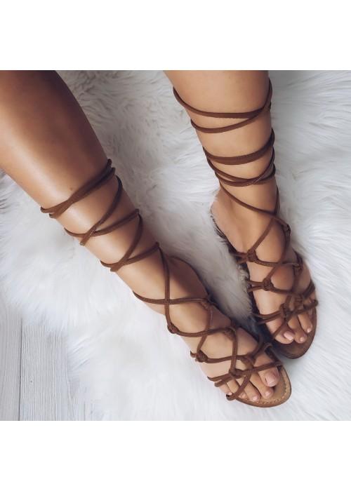 Sandále na viazanie Boho