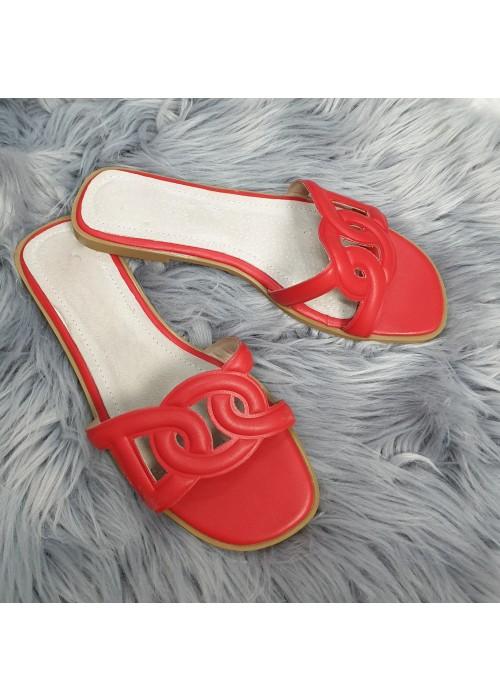Červené šľapky Hanna