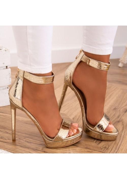 Zlaté sandále Kristin