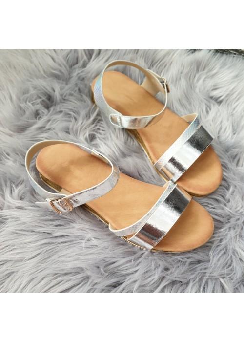 Strieborné sandále Amira