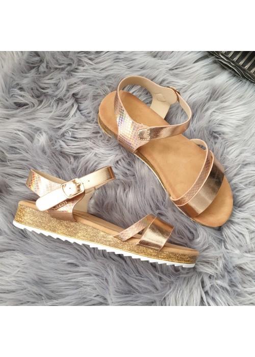 Rose gold sandále Amira