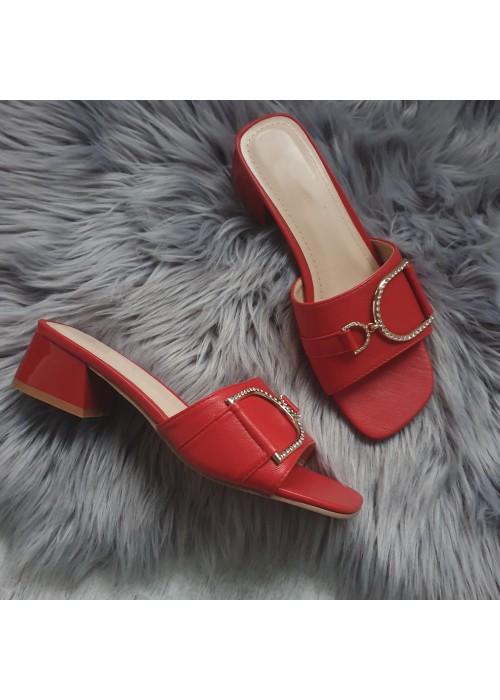 Červené šľapky Dalia
