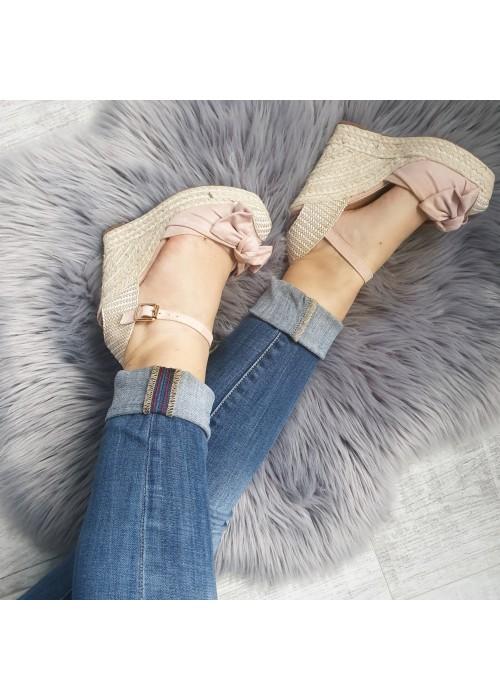 Platformové sandále Vanny ružové