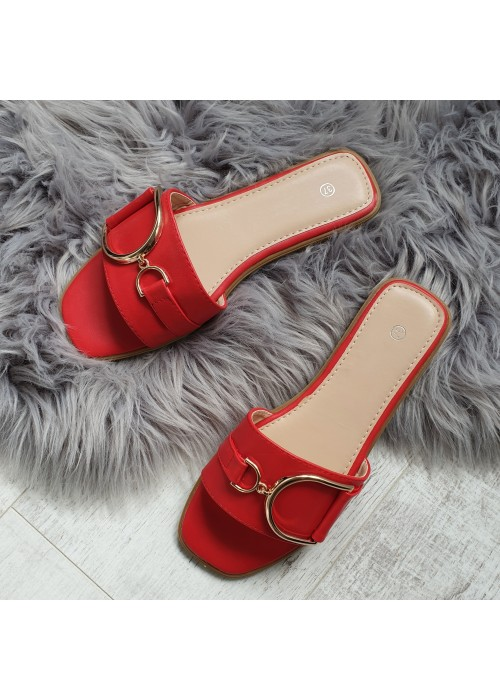 Červené šľapky Diora