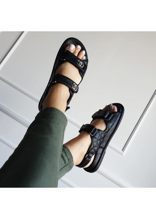 Čierne sandále Daddy