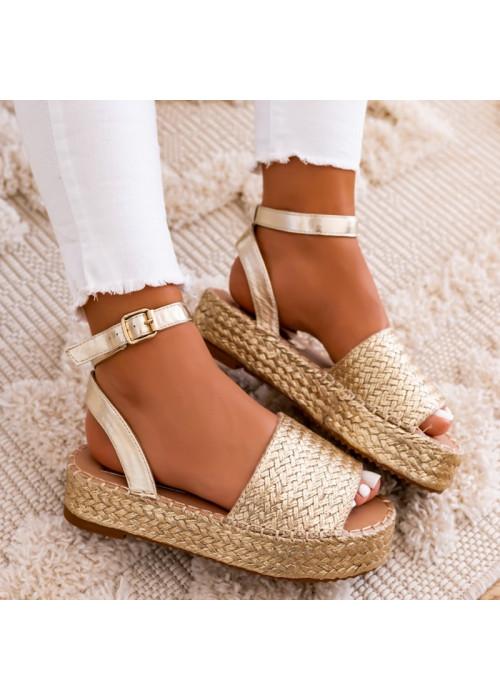 Espadrilkové sandále Semira zlaté