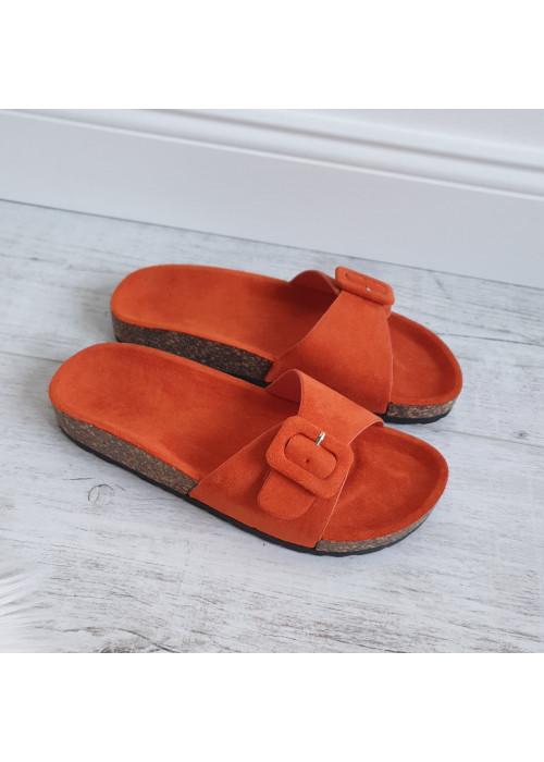 Oranžové šľapky Billy