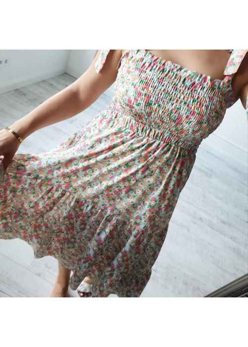 Kvetinové šaty Melrose farebné