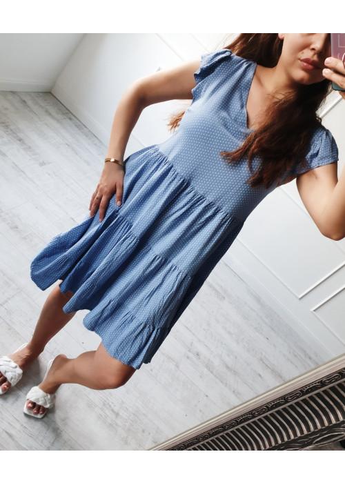 Šaty s bodkami Lilli modré