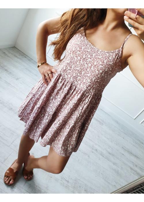 Kvetinové šaty Verna fialkové