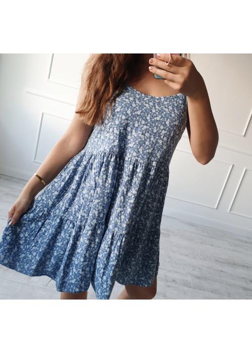 Kvetinové šaty Verna modré