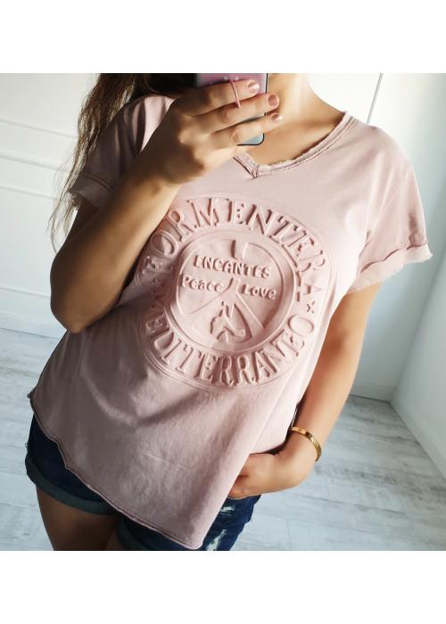 Štýlový top Formentera ružový