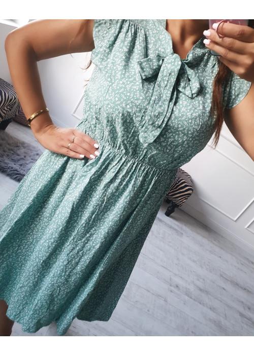 Kvetinové šaty Andy zelené